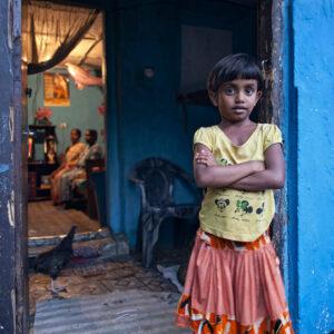 Progetto fotografico le madri di Ceylon di Francesca Guarnaschelli bambina